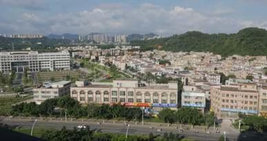 Panoramic View Of City In China