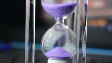 Sand Inside An Hourglass