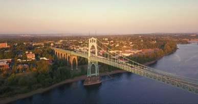 Aerial Shot Of Bridge