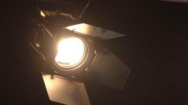 Beam Of Light From A Spotlight