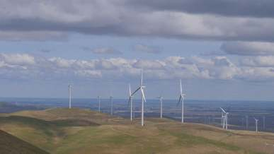 A Beautiful View Of Wind Turbines