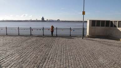 Person Standing By The Railings and Overlooking The Sea