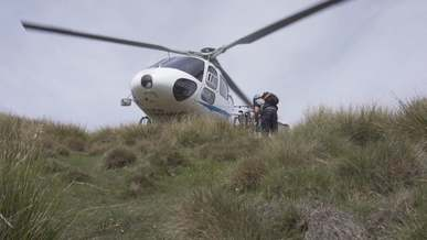 Man Near A Helicopter