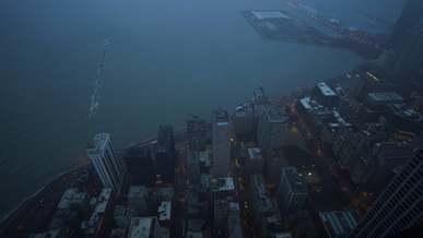 City Near A Body Of Water
