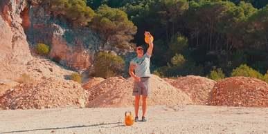 Man Doing Lifting Exercises