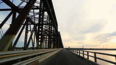 Driving On Old Bridge