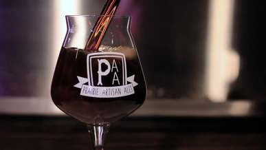 Filling glass with beer