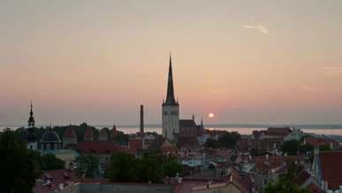 Sunrise over a City