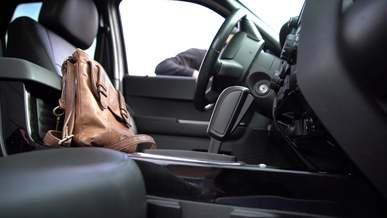 Thief Stealing Handbag from a Car