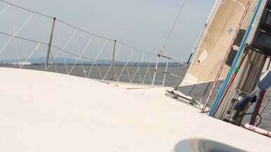 Video of a Sailboat Deck