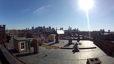 City View From Rooftop