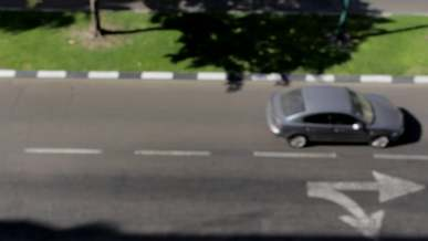 Out Of Focus Footage Of Cars Passing By