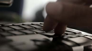 Close-Up Video Of Fingers Typing