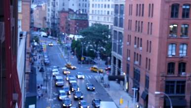 Blurry Footage Of Cars Driving In The City
