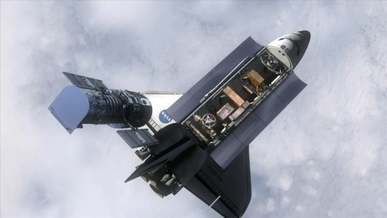 Satellite Docking in a Space Shuttle