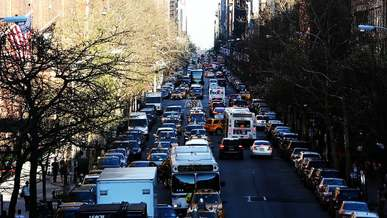 Much Traffic on the Streets of New York