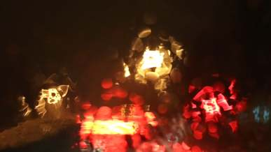 Blurry Video Of Cars While Raining