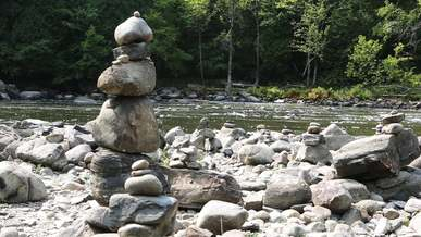 Cairn Near River