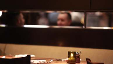 Blurred Video Of Men Chatting In The Restaurant