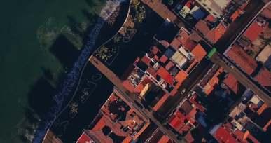 Aerial Shot Of Coast