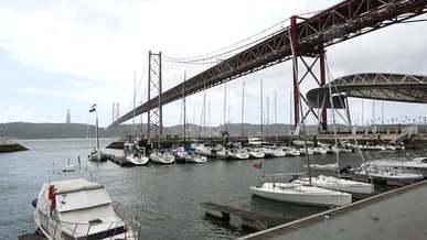 Sailboats Under The Bridge