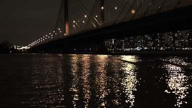 Light Reflection Under Bridge