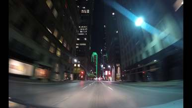 Timelapse Video of Driving Car at Night