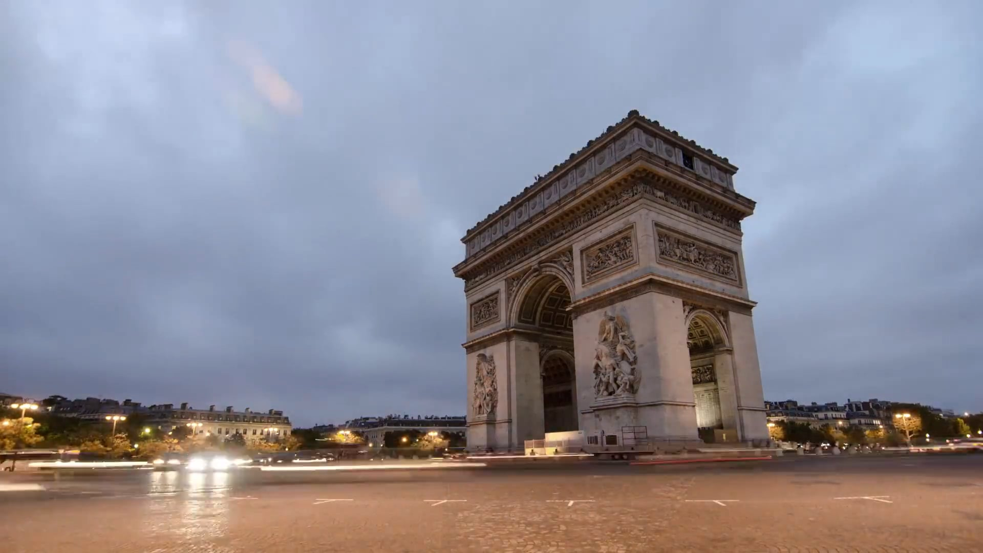 free stock video of arc de triomphe attraction cars. Black Bedroom Furniture Sets. Home Design Ideas