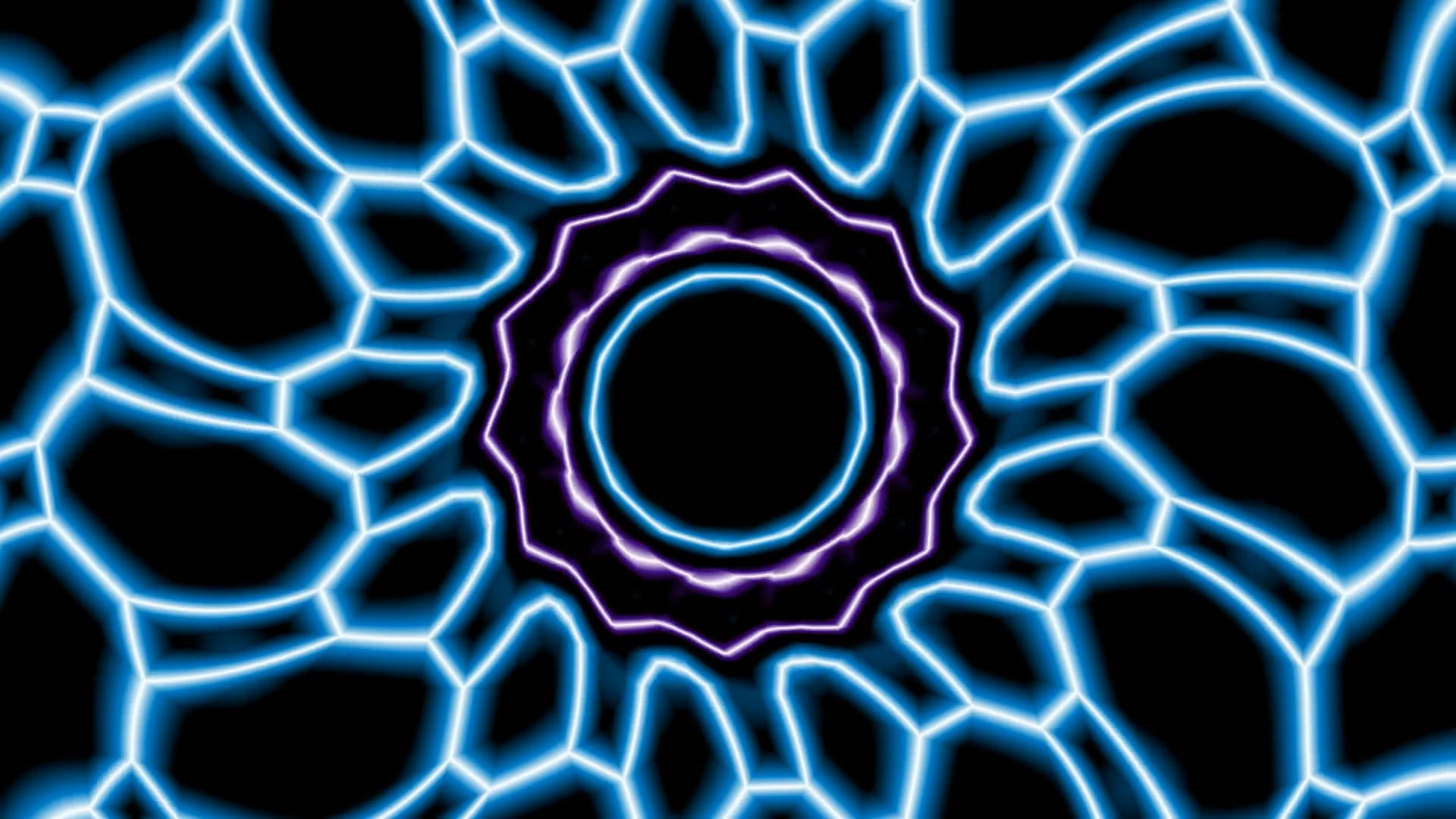 Purple And Blue Kaleidoscope