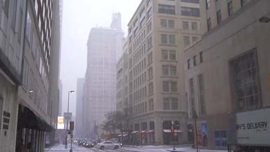 City During Snowtime