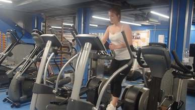 Woman Exercising Alone