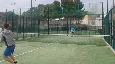 Men Playing Tennis At Daylight